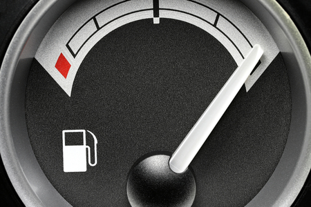 fuel gauge in truck dashboard - full