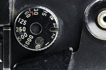 shutter speed dial of an analogue rangefinder camera