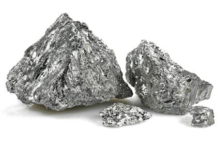 99.99% fine antimony isolated on white background 免版税图像