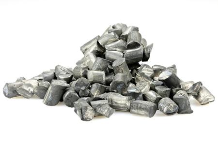 99.9% fine lithium isolated on white background 免版税图像