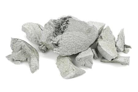 99.9% fine molybdenum isolated on white background
