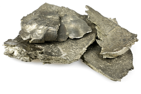 99.9% fine ytterbium isolated on white background