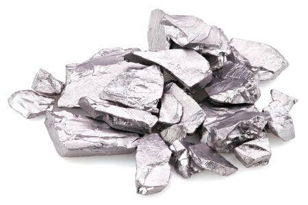 99.95% fine tantalum isolated on white background Banco de Imagens