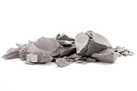 99,95 % de tungstène fin isolé sur fond blanc Banque d'images
