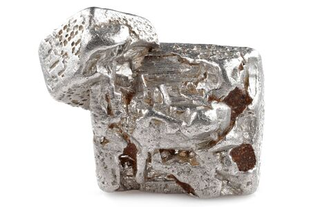 native 2.5 gram platinum nugget from the Kondyor Massif, Khabarovsk Krai, Russia isolated on white background