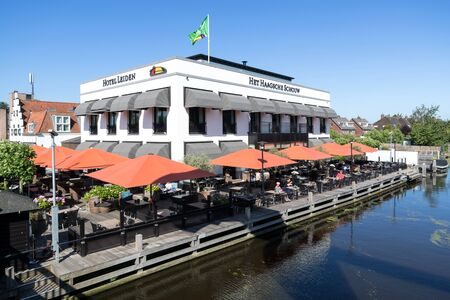 Van der Valk Hotel in Leiden, The Netherlands. Van der Valk is a Dutch international hospitality chain run by the Van der Valk family. It is the largest Dutch hospitality chain.