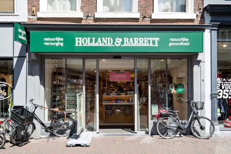 Holland & Barrett store in Delft, The Netherlands. Holland & Barrett is a chain of health food shops with over 1,300 stores in 16 countries. Sajtókép