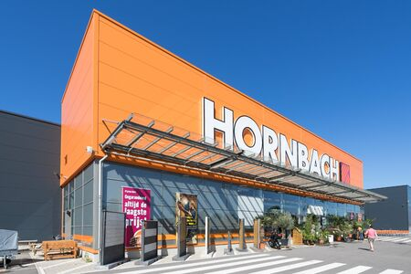 Hornbach hardware store in The Hague, The Netherlands. Hornbach is a German DIY-store chain offering home improvement and do-it-yourself goods.