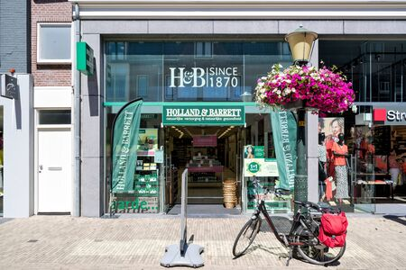 Holland & Barrett store in Wassenaar, The Netherlands. Holland & Barrett is a chain of health food shops with over 1,300 stores in 16 countries.