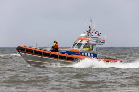 KNRM lifeboat PAUL JOHANNES. KNRM is the voluntary organization in the Netherlands tasked with saving lives at sea. Editoriali