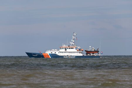 Kustwacht patrol boat VISAREND. The Netherlands Coastguard is an independent civil organization with own tasks, competences and responsibilities.
