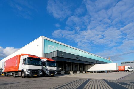 PostNL sorting center. PostNL is a mail, parcel and e-commerce corporation with operations in the Netherlands, Germany, Italy, Belgium, and the United Kingdom.