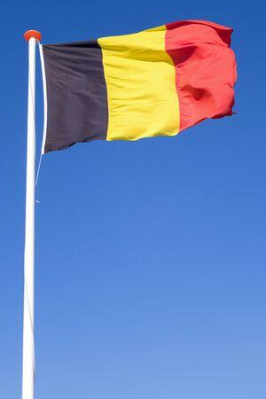 Belgian flag flying in the wind Stock fotó