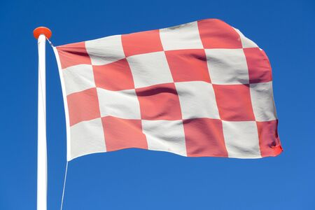 flag of Dutch province North Brabant flying in the wind Stock fotó
