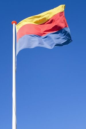 flag of Dutch province North Holland flying in the wind Stock fotó