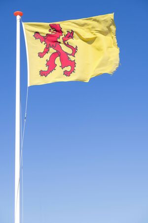 flag of Dutch province South Holland flying in the wind Stock Photo
