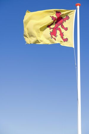flag of Dutch province South Holland flying in the wind Stock fotó