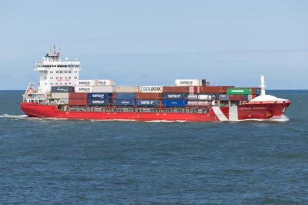 Vroon container ship ISTRIAN EXPRESS inbound Rotterdam.