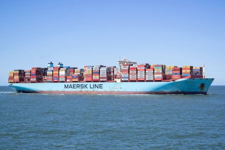 MORTEN MAERSK inbound Rotterdam. Maersk is the largest container ship operator in the world.