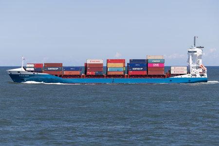 container ship STEFAN SIBUM outbound Rotterdam Редакционное