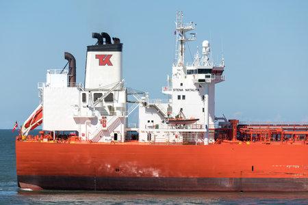shuttle tanker STENA NATALITA inbound Rotterdam.