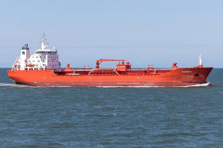 Chemical tanker STENBERG inbound Rotterdam. Rederiet Stenersen AS operates a fleet of 18 chemicalproduct tankers ranging in size from 13-19 000 dwt.