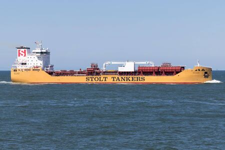 Chemical tanker STOLT LOYALTY inbound Rotterdam. Stolt Tankers operates the world's largest and most sophisticated fleet of chemical and parcel tankers.