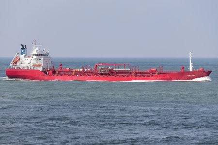 chemical tanker CHRISTINA inbound Rotterdam Editorial