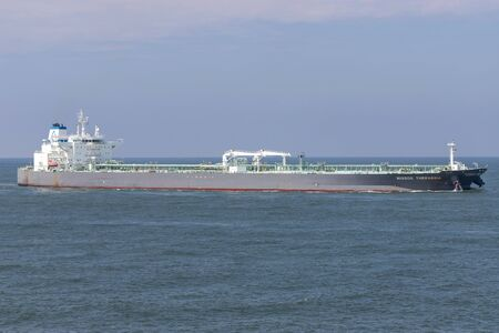 crude oil tanker NISSOS THERASSIA inbound Rotterdam