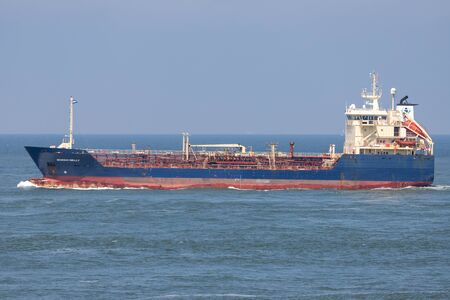 chemical tanker NORDIC NELLY outbound Rotterdam Redactioneel