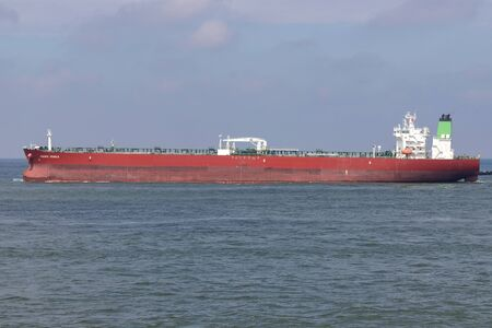 crude oil tanker PACIFIC JEWELS outbound Rotterdam
