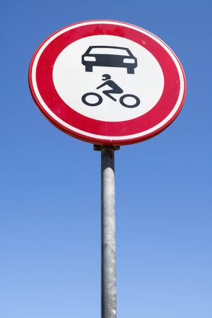 Dutch road sign: no access for motor vehicles