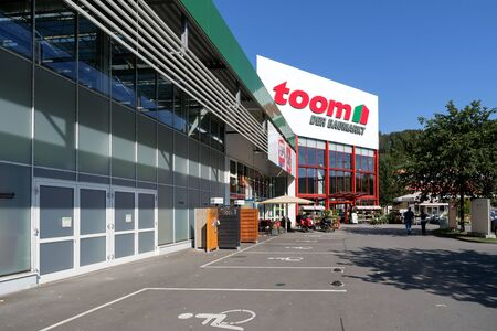 toom hardware store in Gummersbach, Germany. toom is one of the largest German DIY retailer and part of the REWE Group. Editorial