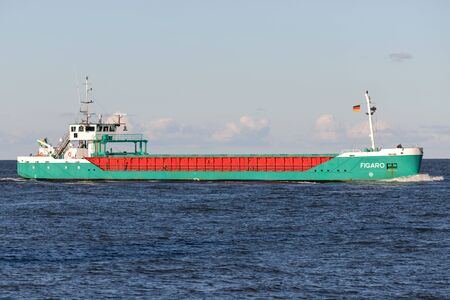 Baltnautic Shipping general cargo vessel FIGARO on the river Elbe.