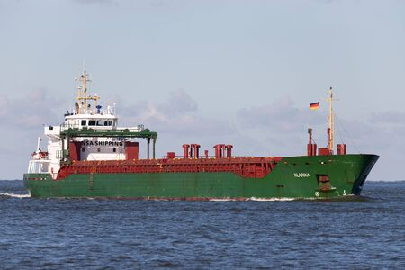 Hansa Shipping multipurpose dry cargo and container carrier KLARIKA on the river Elbe