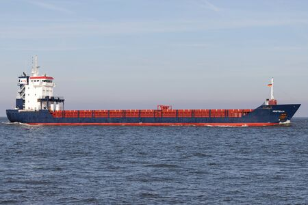 Hansa Shipping multipurpose dry cargo and container carrier KRISTELLA on the river Elbe