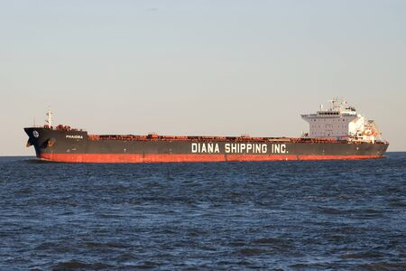 Diana Shipping bulk carrier PHAIDRA on the river Elbe.  Diana Shipping Inc. (NYSE: DSX) is a global provider of shipping transportation services.
