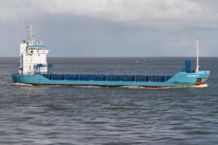 general cargo vessel ULTRAMAR on the river Elbe