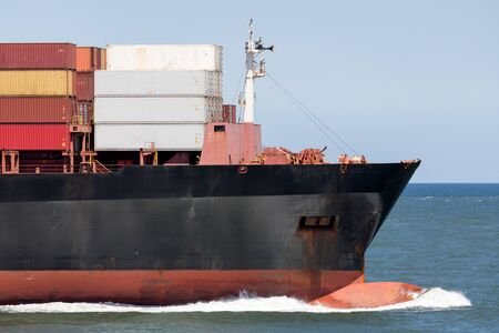 bow of a container ship Archivio Fotografico