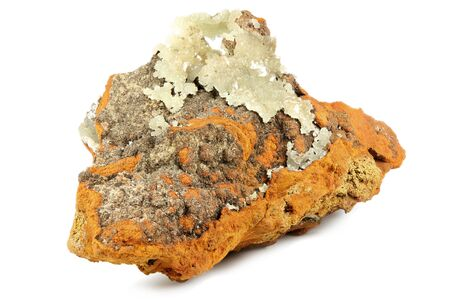 smithsonite from La Ojuela Mine, Mexico isolated on white background