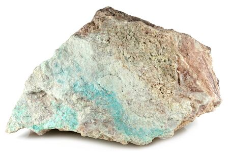 turquoise from South Africa isolated on white background