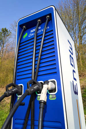 electric vehicle charging station of EnBW