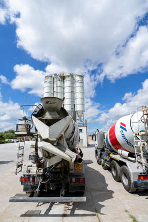 Cemex concrete mixer at plant. Cemex is the second largest building materials company worldwide.