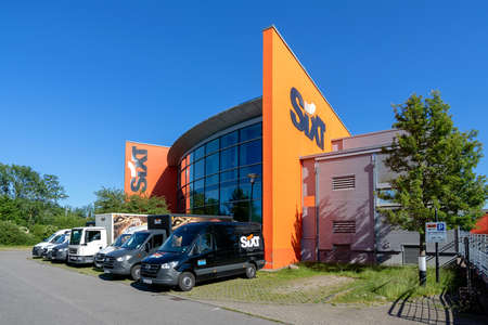 Sixt rental office in Rostock, Germany. Sixt SE is a European multinational car rental company with about 4,000 locations in over 100 countries. Editorial