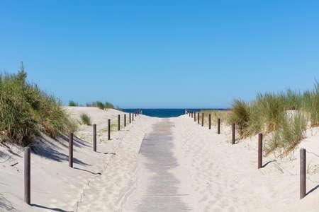 path through the dunes to the Baltic Sea Archivio Fotografico