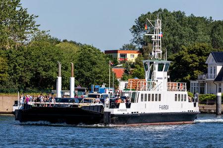 Warnow ferry F-WARNOW in service between Warnemünde and Hohe Düne