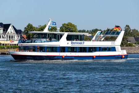 excursion boat ROSTOCKER 7 on Rostock harbor sightseeing tour