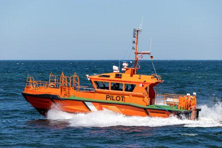 pilot boat KNURRHAHN on the Baltic Sea