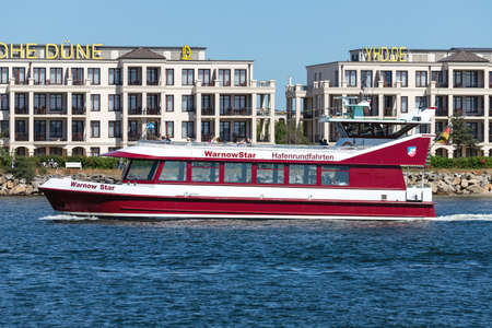 excursion boat WARNOWSTAR on Rostock harbor sightseeing tour
