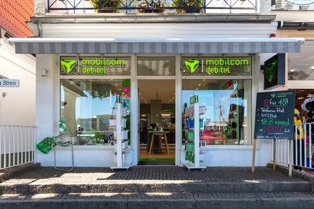 mobilcom debitel store in Warnemünde, Germany